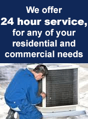 Patterson Heating & Air offer 24 hour service, for any of your residential and commercial needs